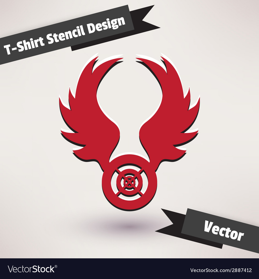 T-shirt stencil design  template for your design vector | Price: 1 Credit (USD $1)
