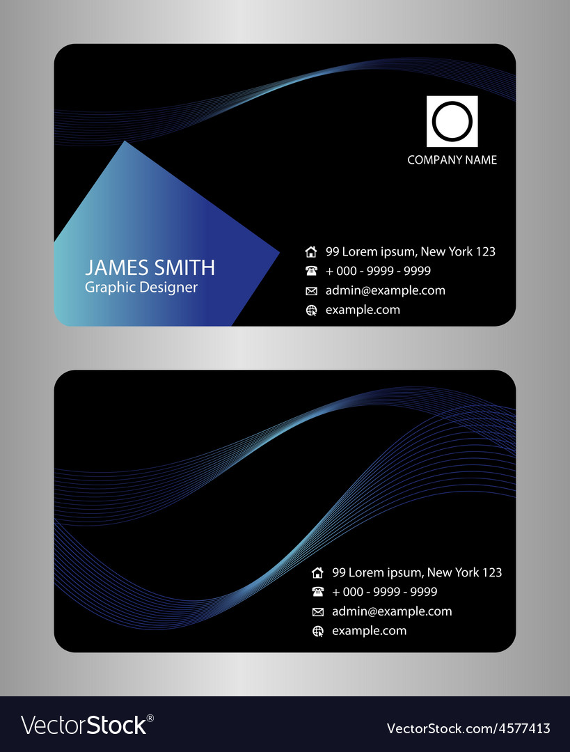 Black business card template vector | Price: 1 Credit (USD $1)