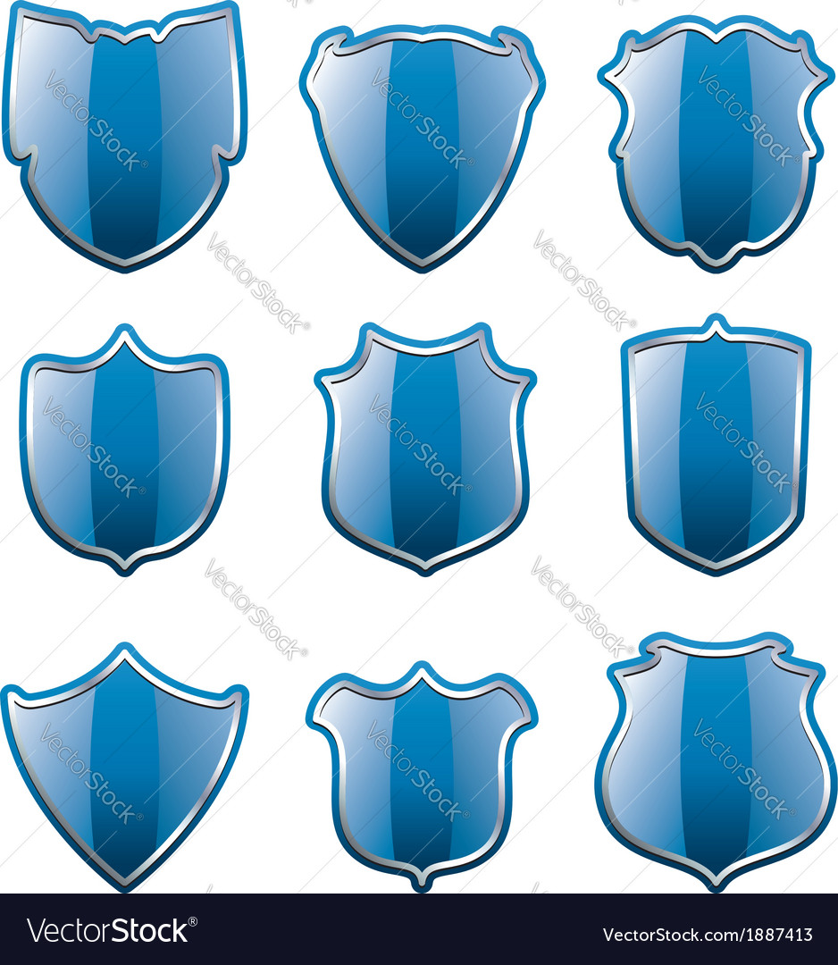 Blue shields vector | Price: 1 Credit (USD $1)