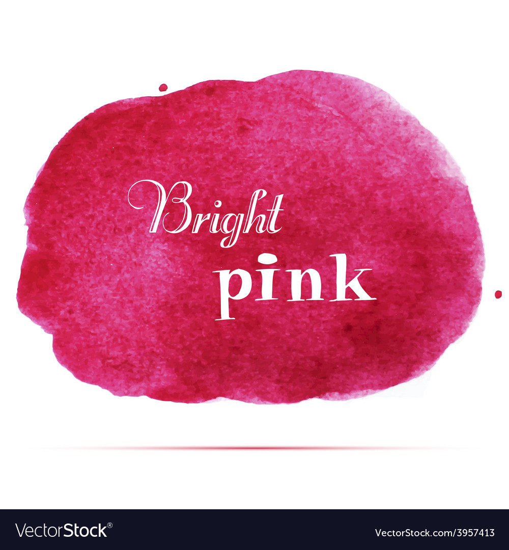 Bright pink spot abstract stylish watercolor vector | Price: 1 Credit (USD $1)