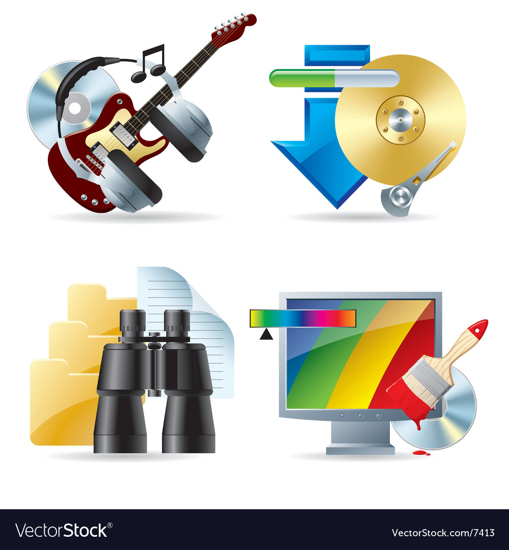 Computer and web icons iii vector | Price: 5 Credit (USD $5)