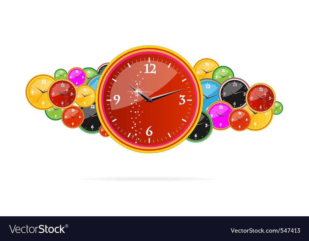 Creative chronometer time sign on the clocks vector | Price: 1 Credit (USD $1)