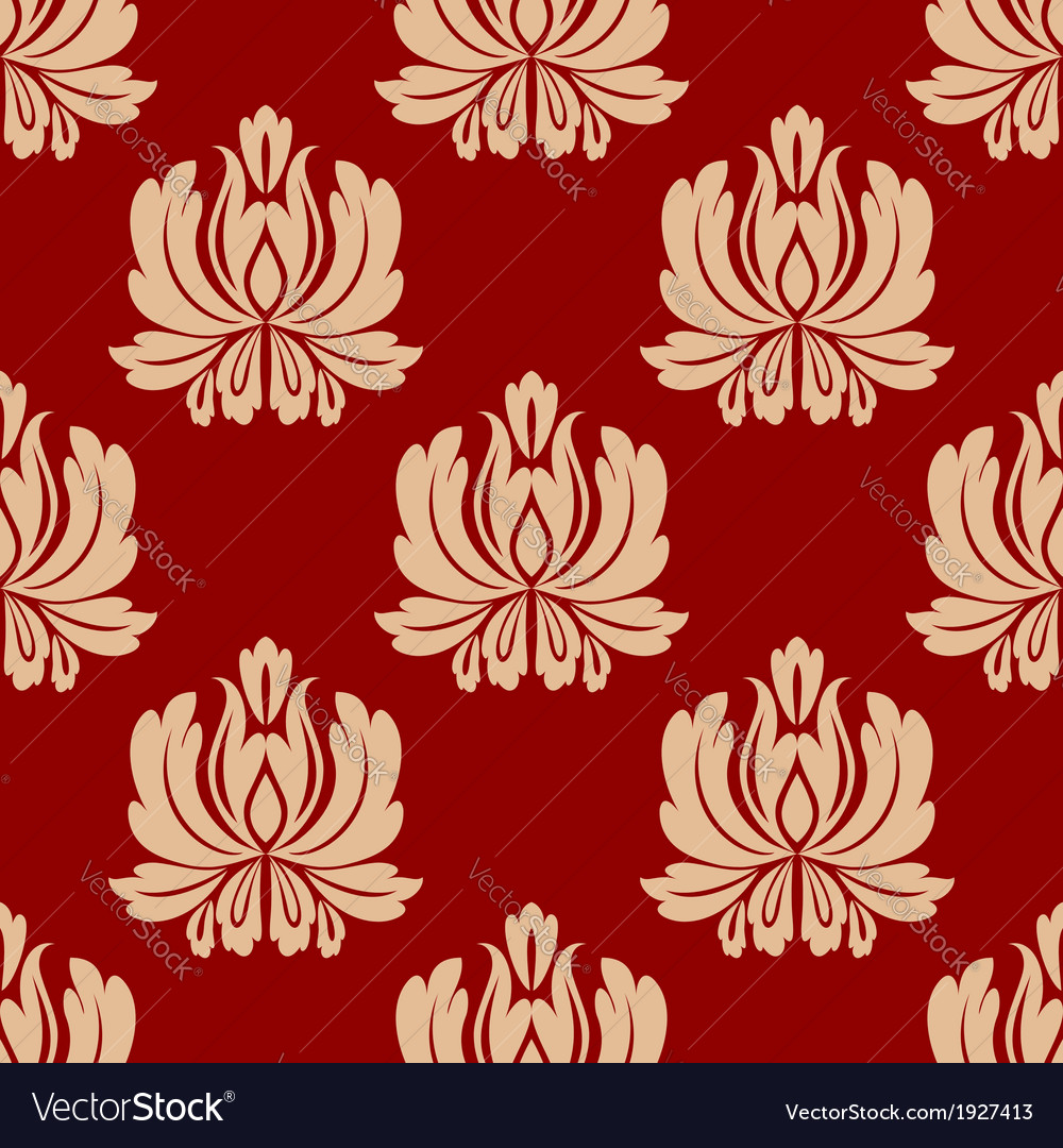Damask style repeat floral design vector | Price: 1 Credit (USD $1)