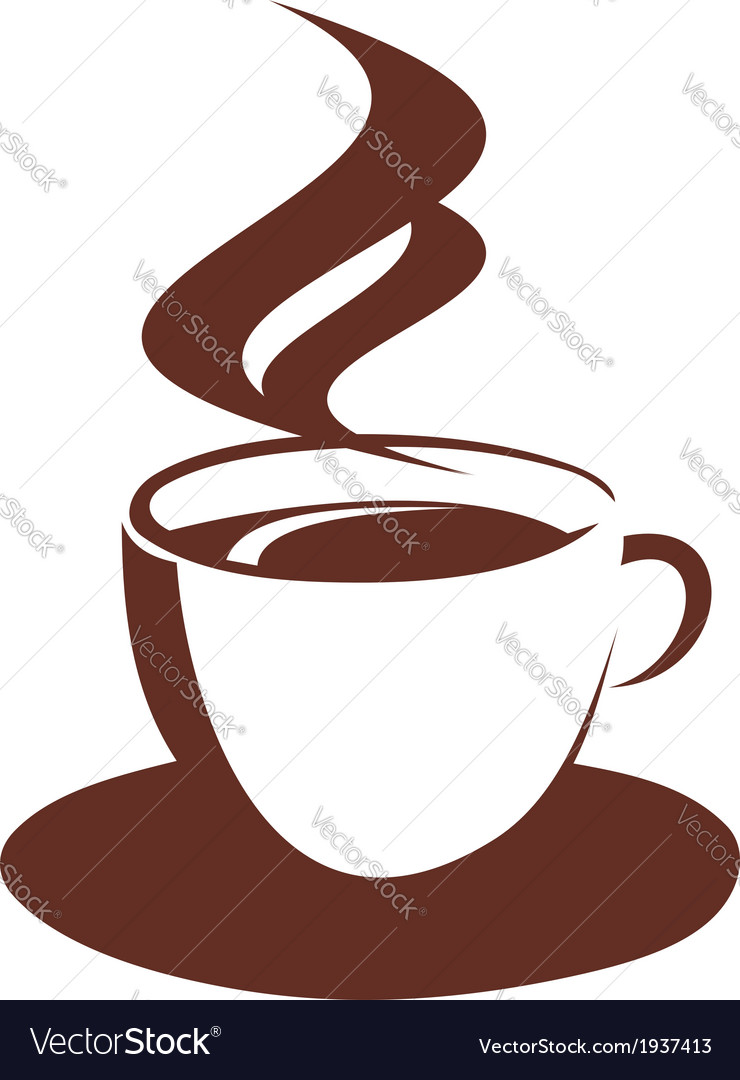 Doodle sketch of steaming coffee cup vector | Price: 1 Credit (USD $1)