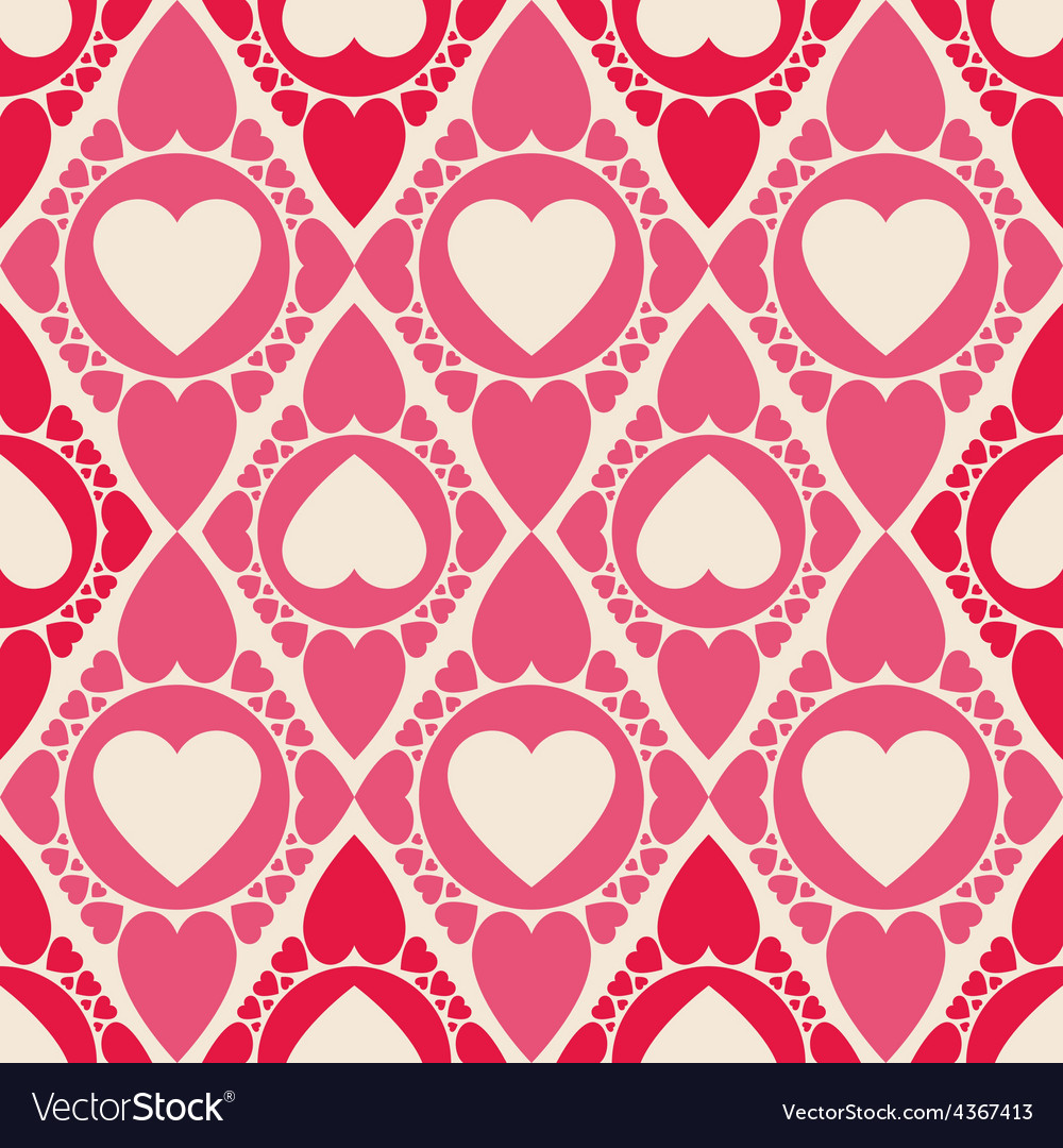 Endless heart shape seamless pattern for printing vector | Price: 1 Credit (USD $1)