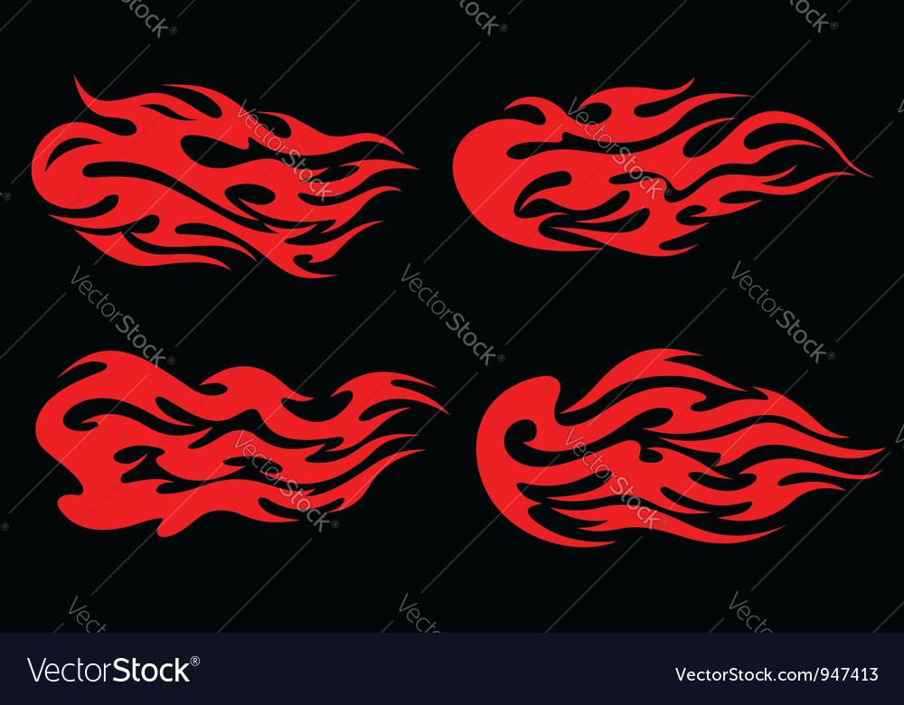 Fire flames in tribal style vector | Price: 1 Credit (USD $1)