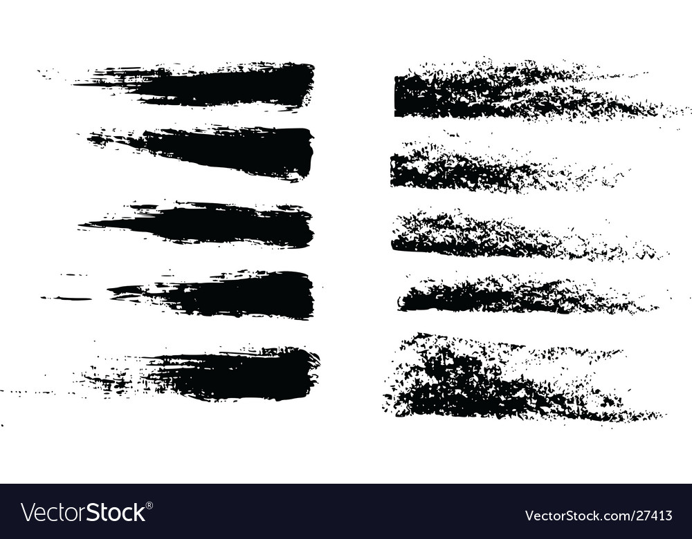 Grunge brushes vector | Price: 1 Credit (USD $1)