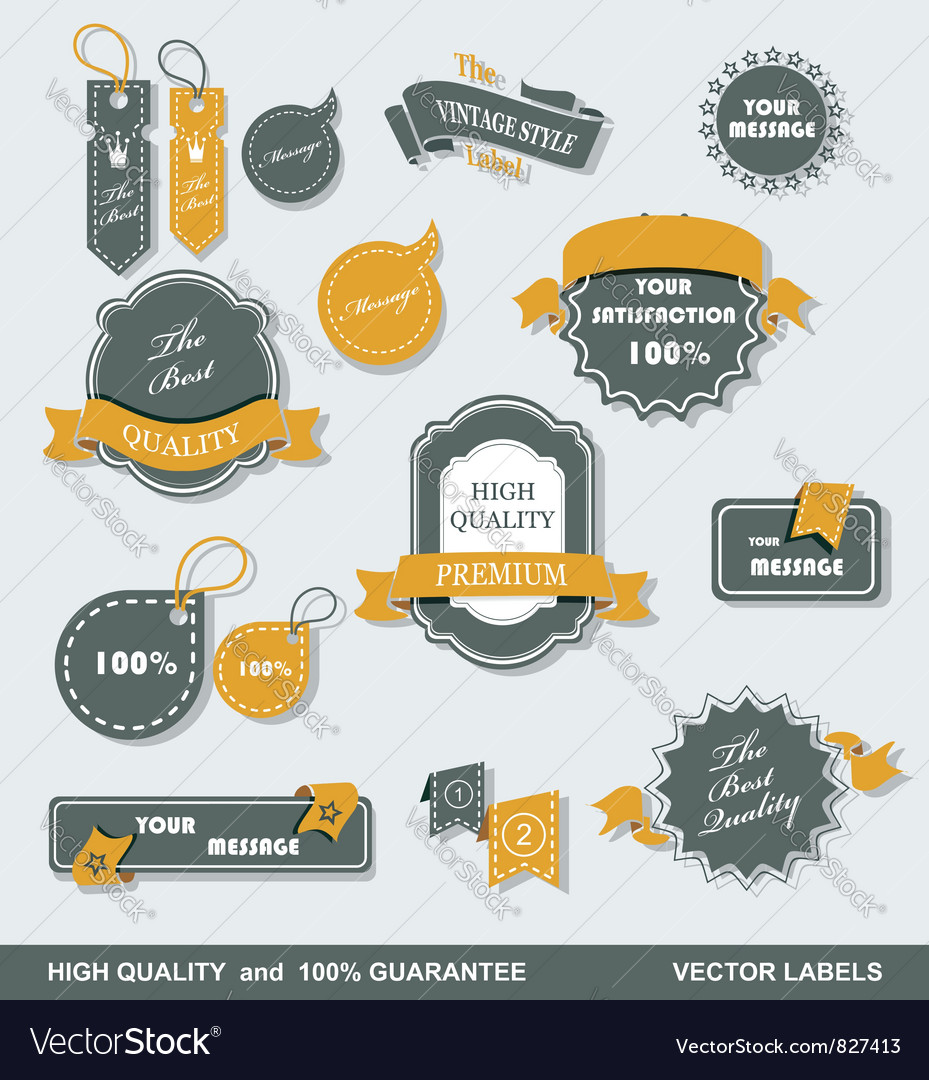 Labels retro 1 vector | Price: 1 Credit (USD $1)