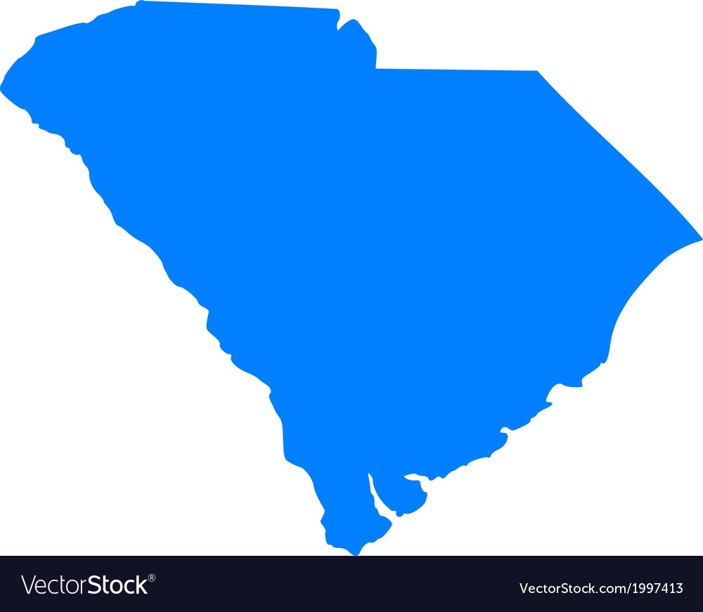 Map of south carolina vector