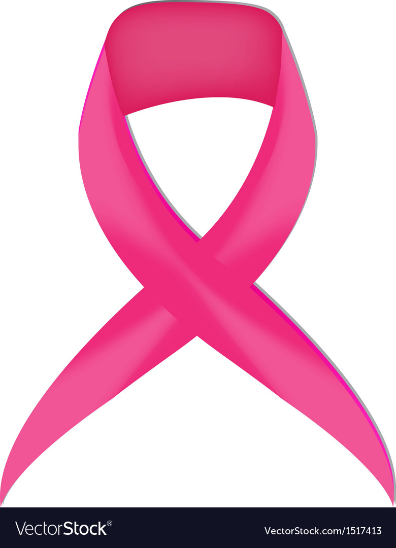 Pink breast cancer ribbon vector | Price: 1 Credit (USD $1)