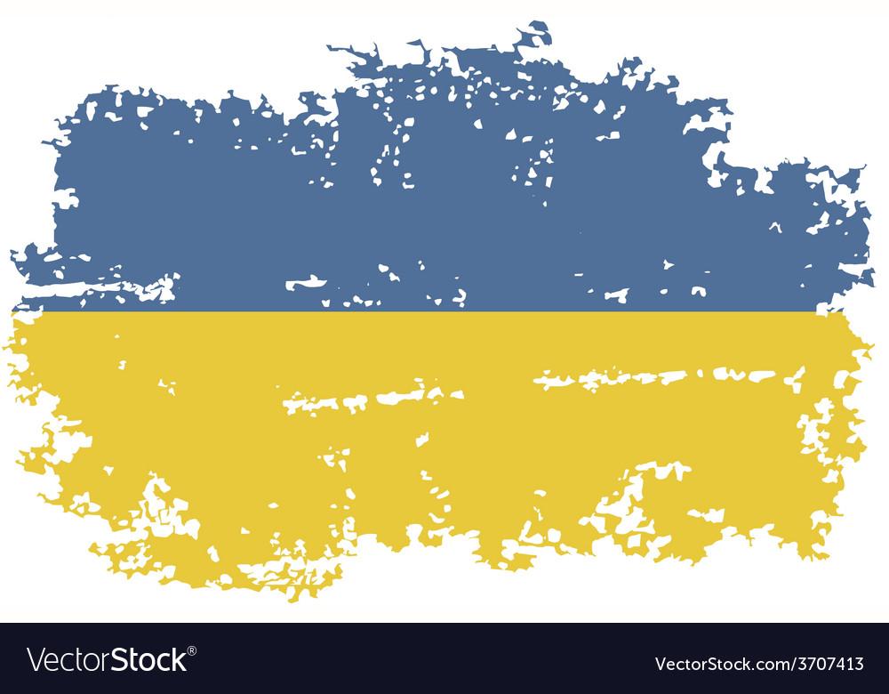 Ukrainian grunge flag vector | Price: 1 Credit (USD $1)