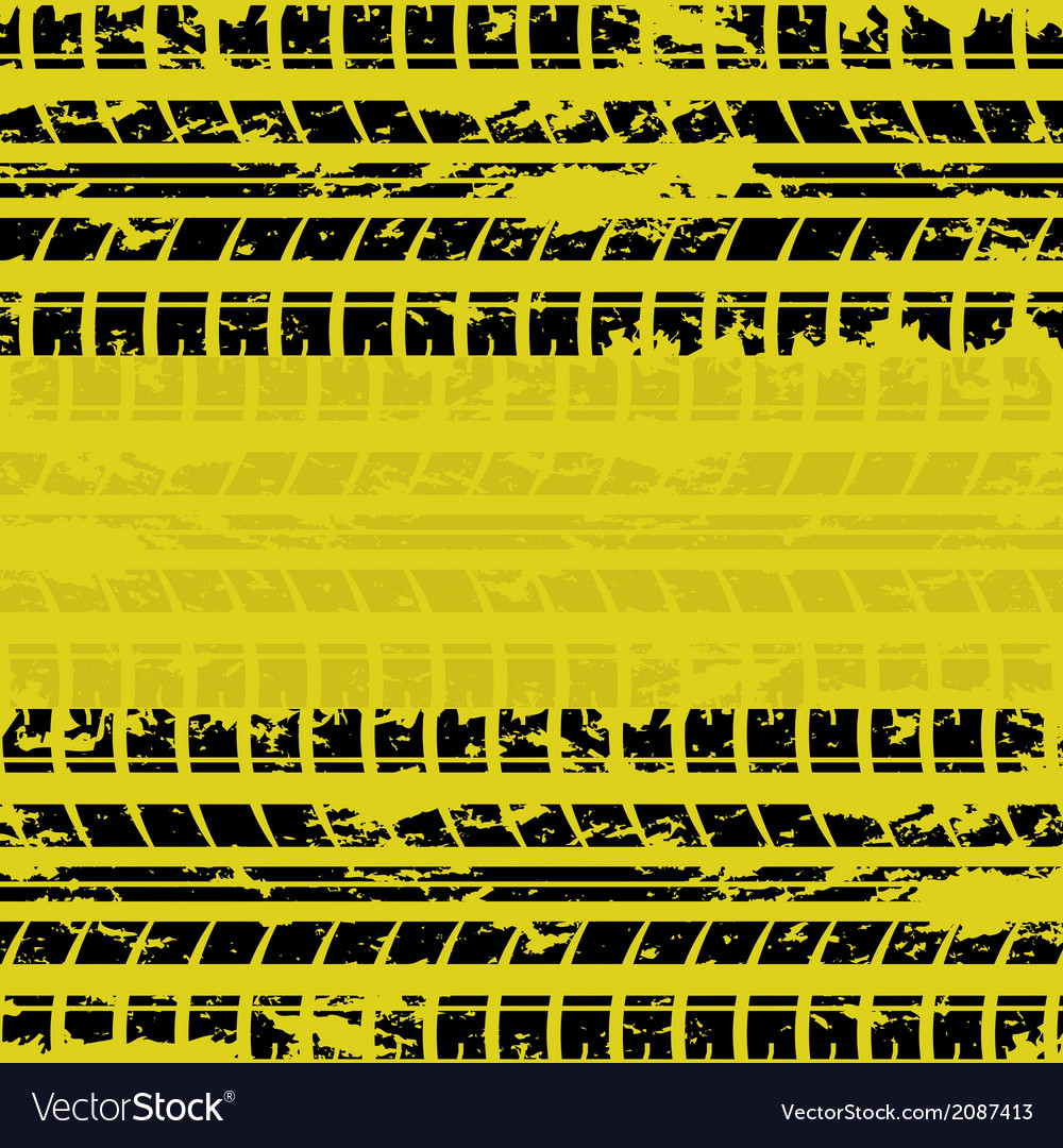 Yellow tire track background vector | Price: 1 Credit (USD $1)