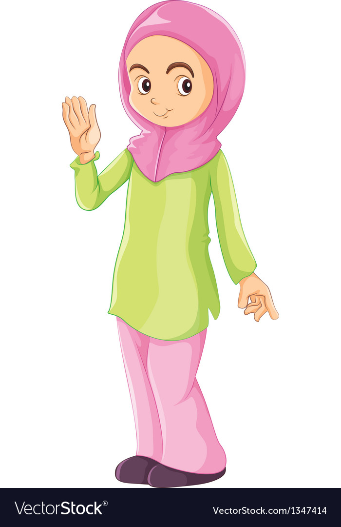 A female muslim vector | Price: 1 Credit (USD $1)