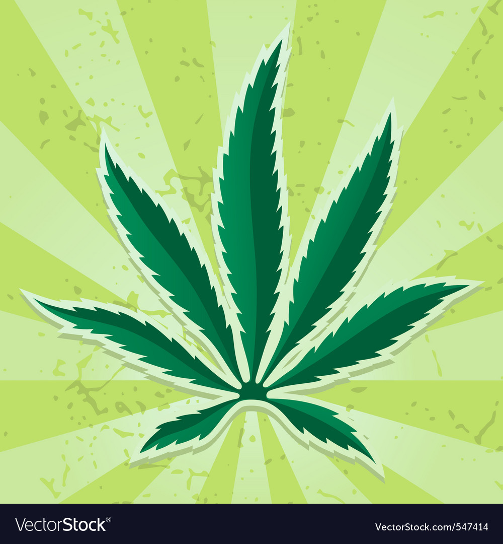 Cannabis leaf icon vector | Price: 1 Credit (USD $1)