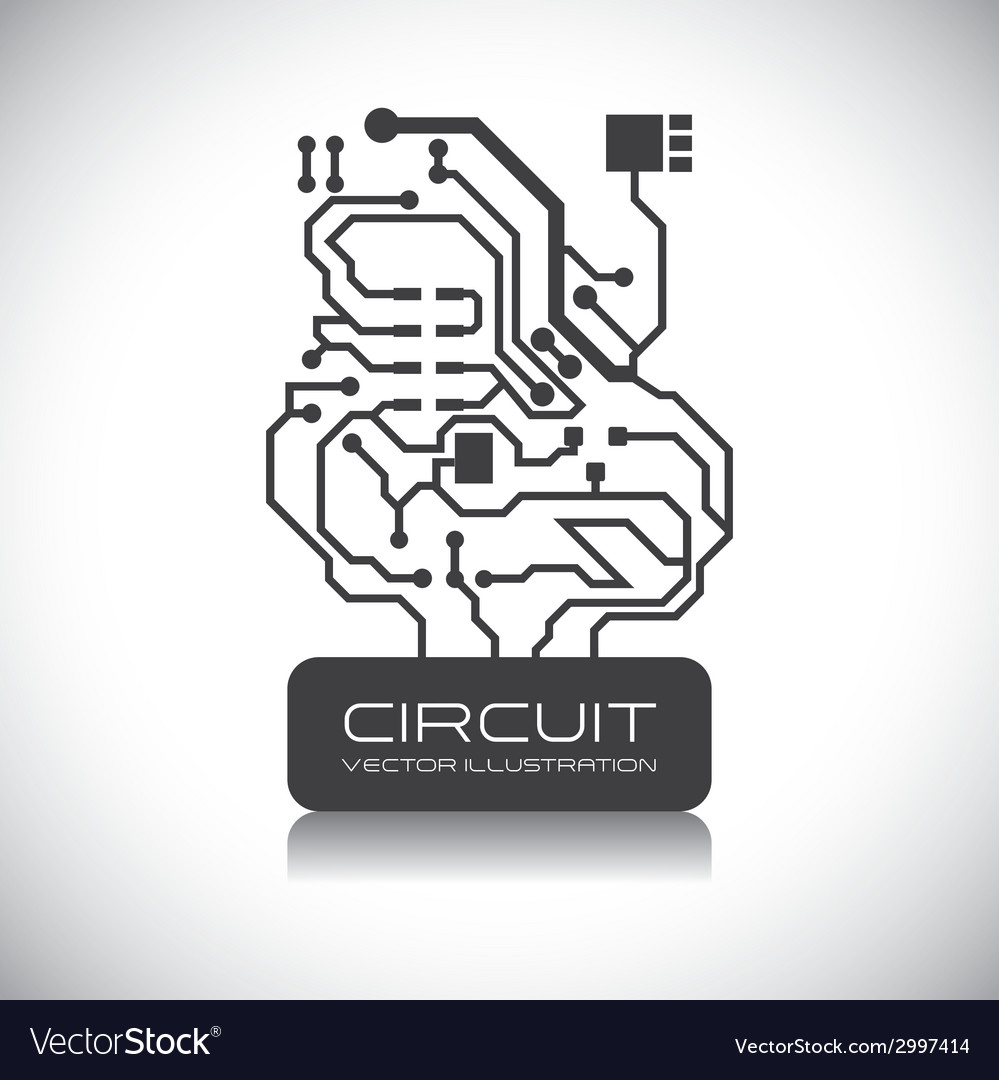 Circuit design vector | Price: 1 Credit (USD $1)