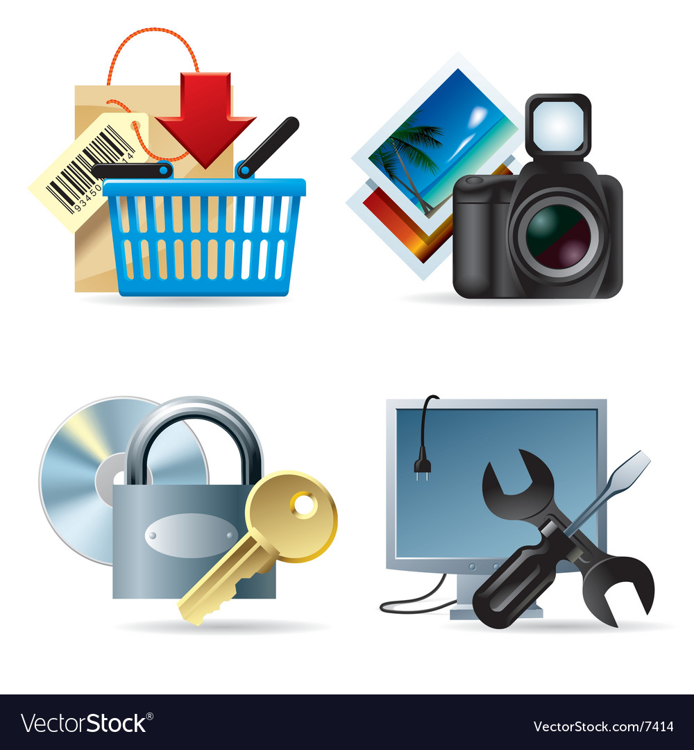 Computer and web icons ii vector | Price: 5 Credit (USD $5)