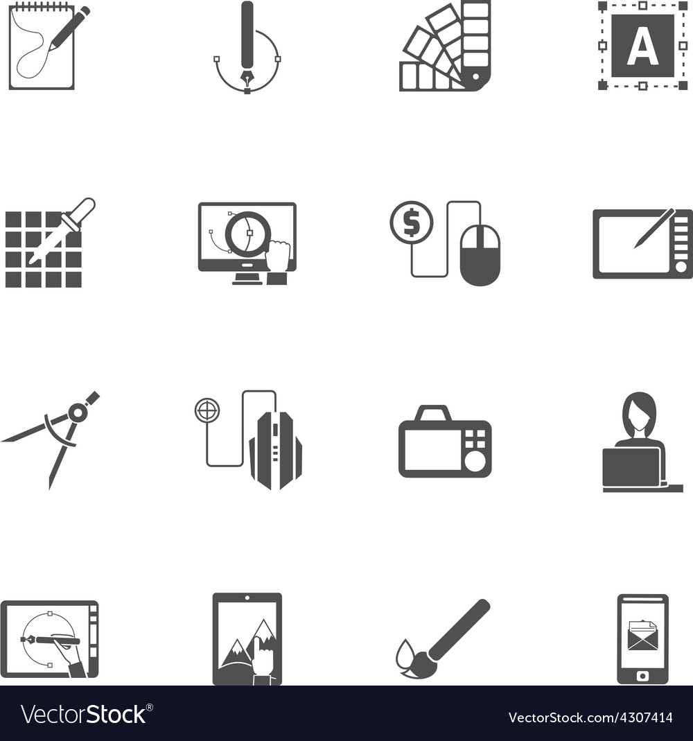 Graphic design black icons vector | Price: 1 Credit (USD $1)