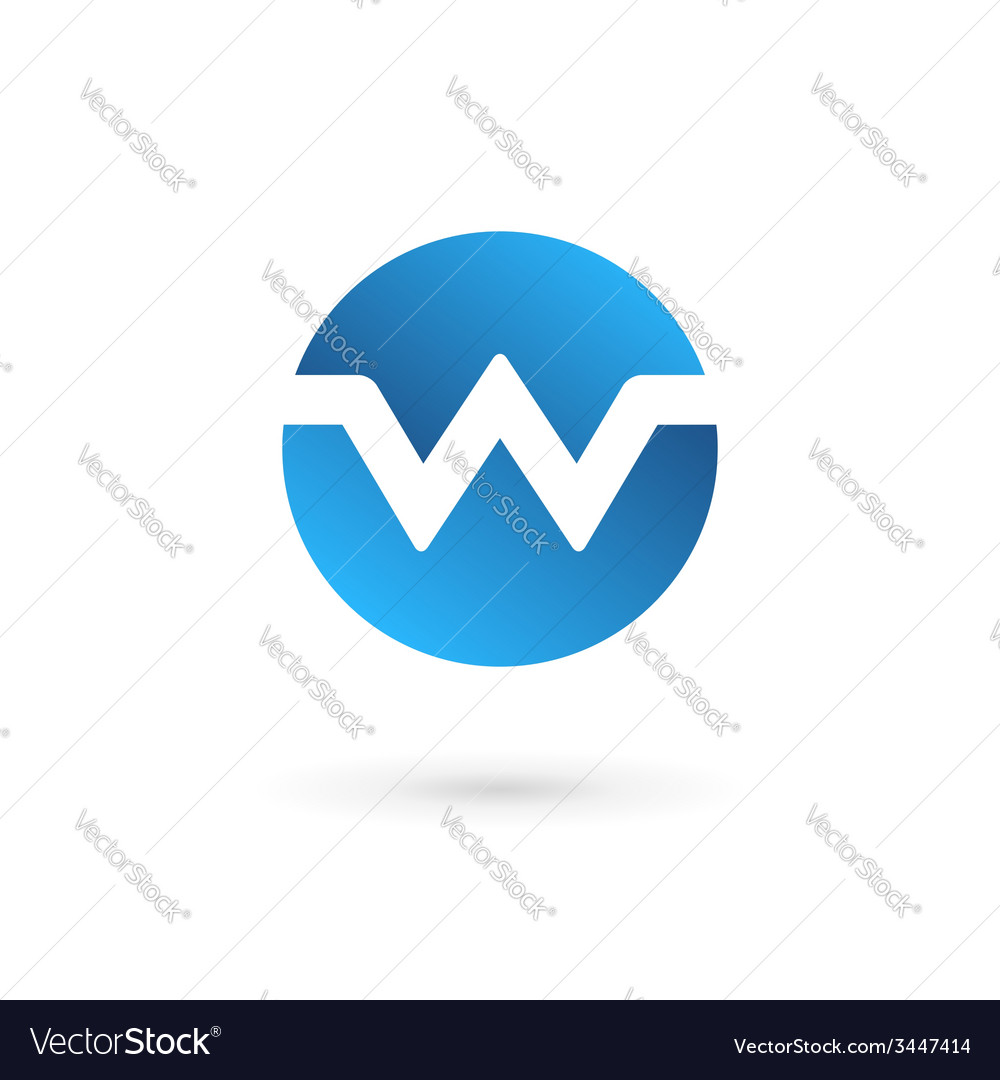 Letter w logo icon design template elements vector | Price: 1 Credit (USD $1)