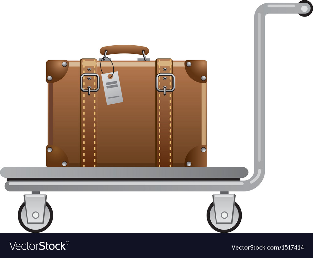 Luggage cart vector | Price: 3 Credit (USD $3)
