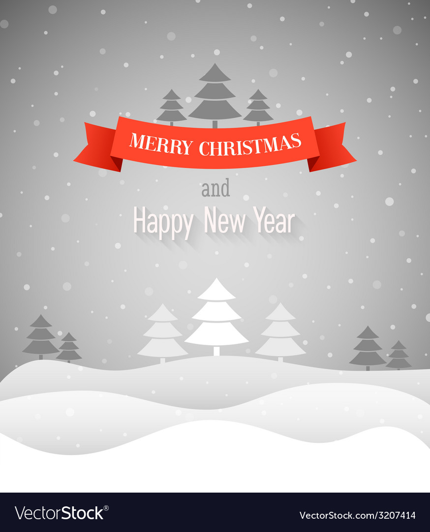 Merry christmas vintage greeting card vector | Price: 1 Credit (USD $1)