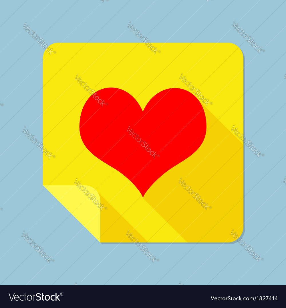 Notepad heart vector | Price: 1 Credit (USD $1)