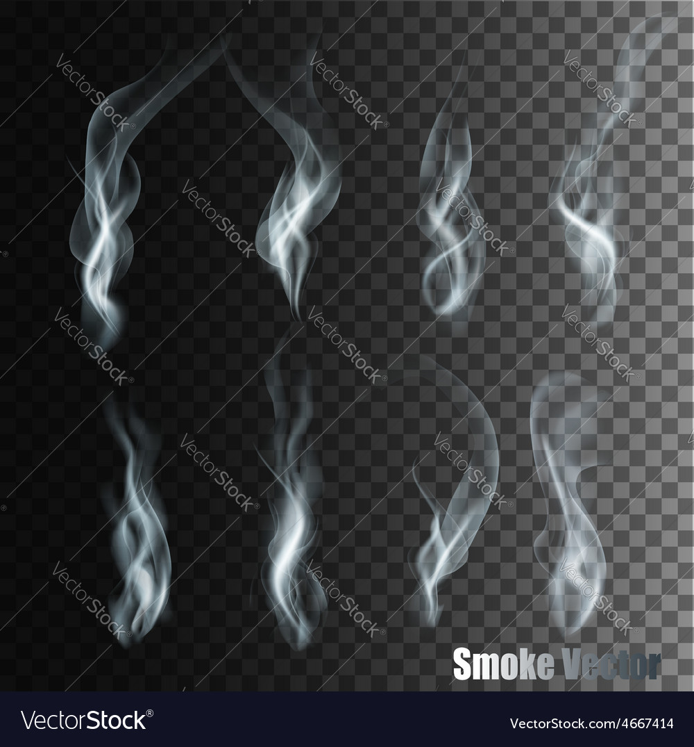 Set of transparent different smoke vector   Price: 3 Credit (USD $3)