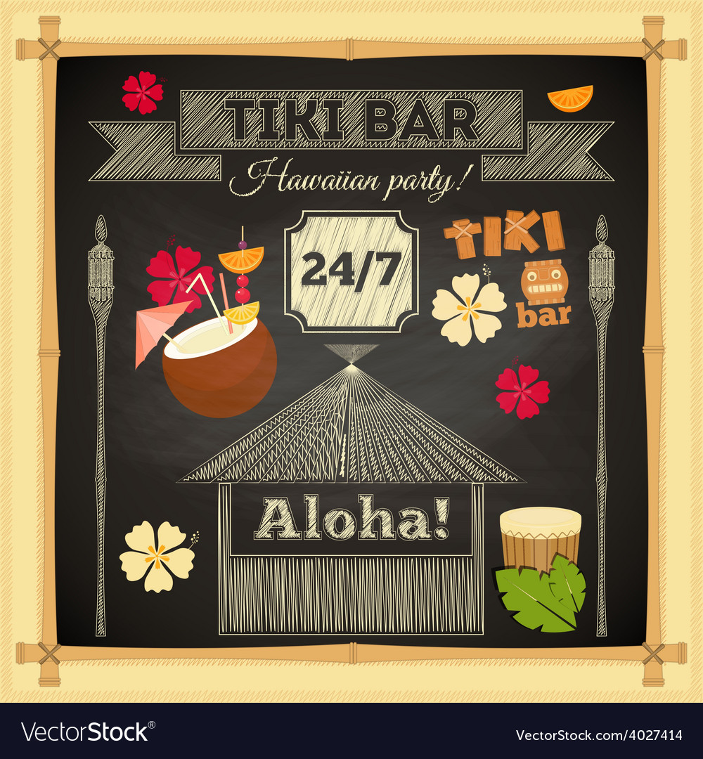 Tiki chalk bar vector | Price: 1 Credit (USD $1)