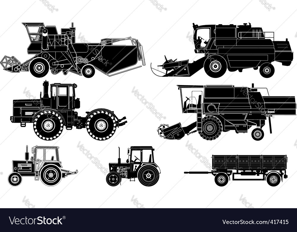 Agricultural vehicles vector | Price: 3 Credit (USD $3)