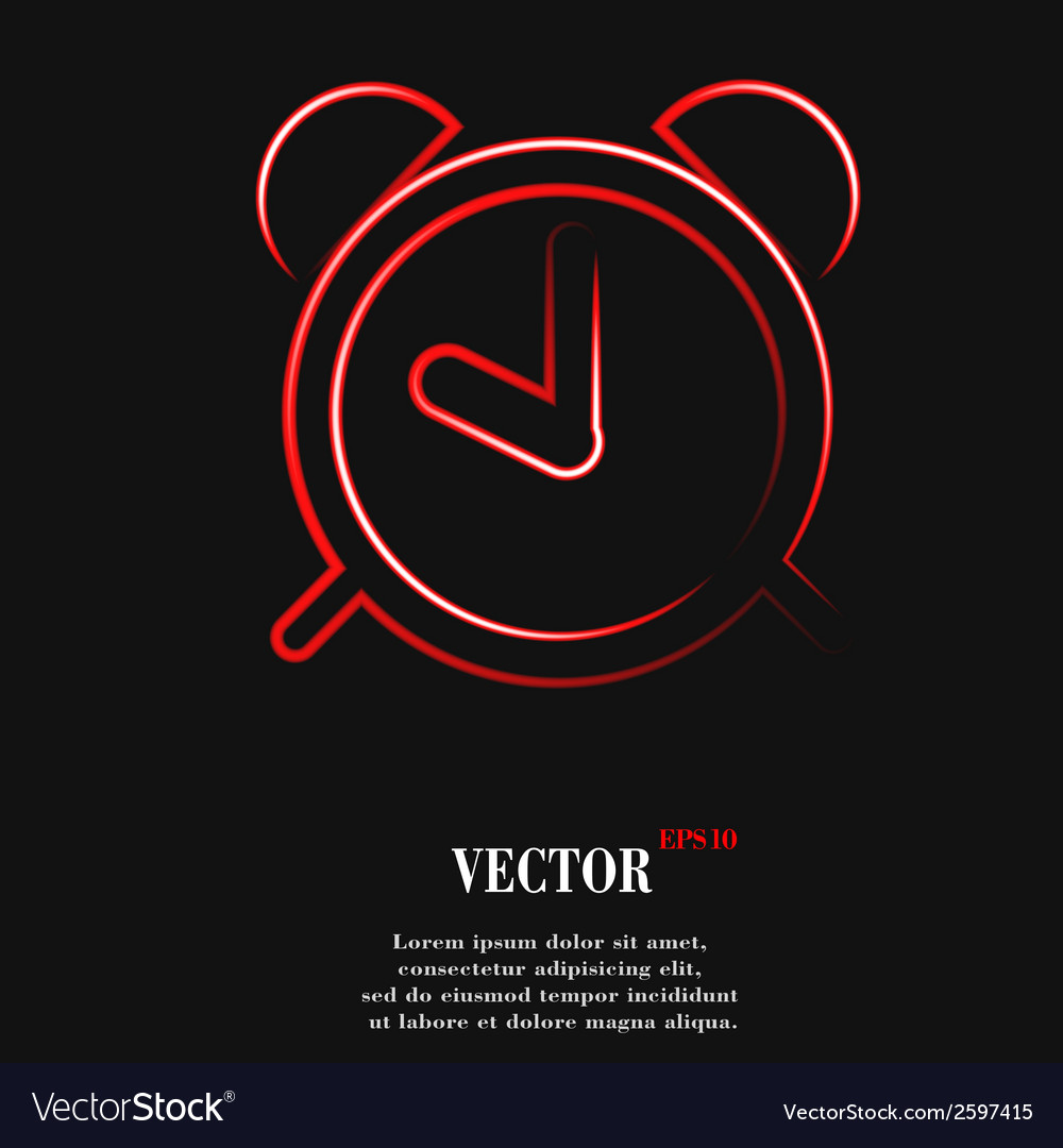 Alarm clock flat modern web button and space for vector   Price: 1 Credit (USD $1)