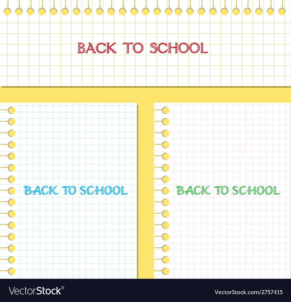 Back to school note paper vector | Price: 1 Credit (USD $1)