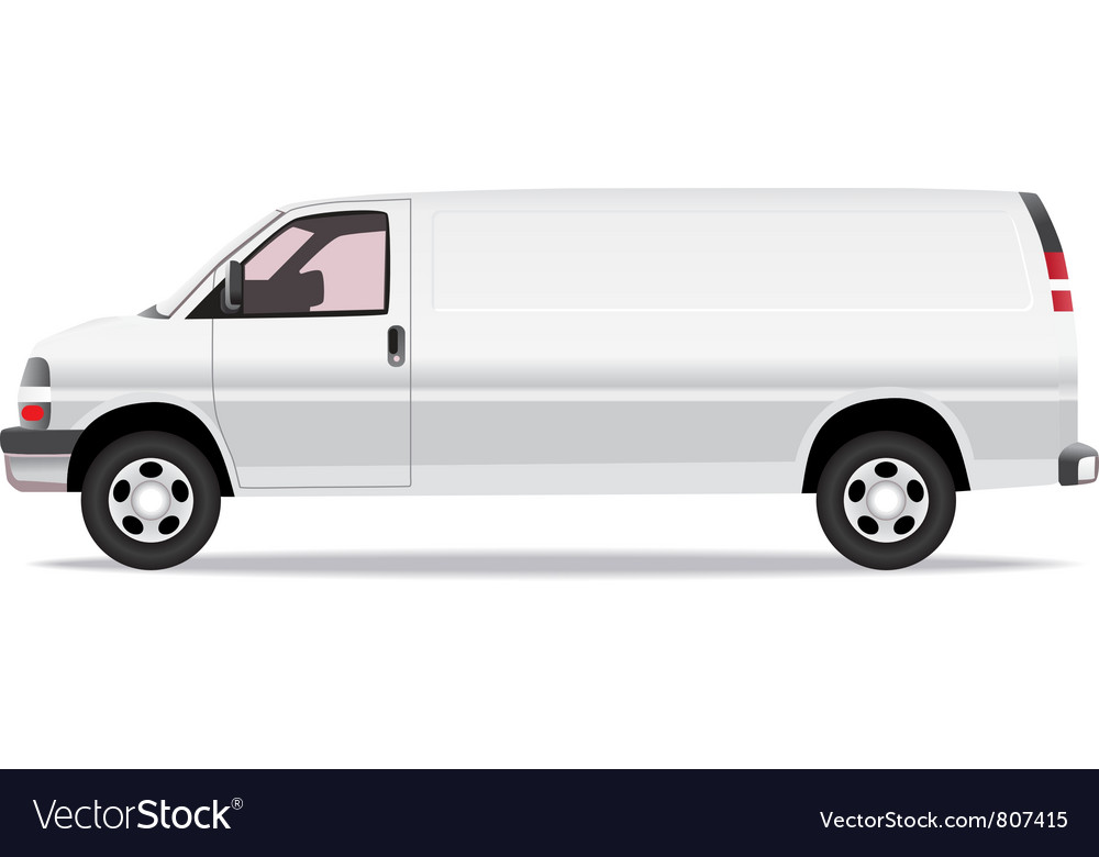 Delivery van vector | Price: 1 Credit (USD $1)