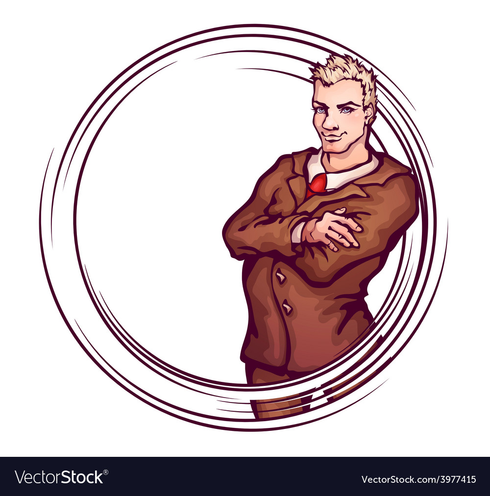 Elegant man vector | Price: 1 Credit (USD $1)