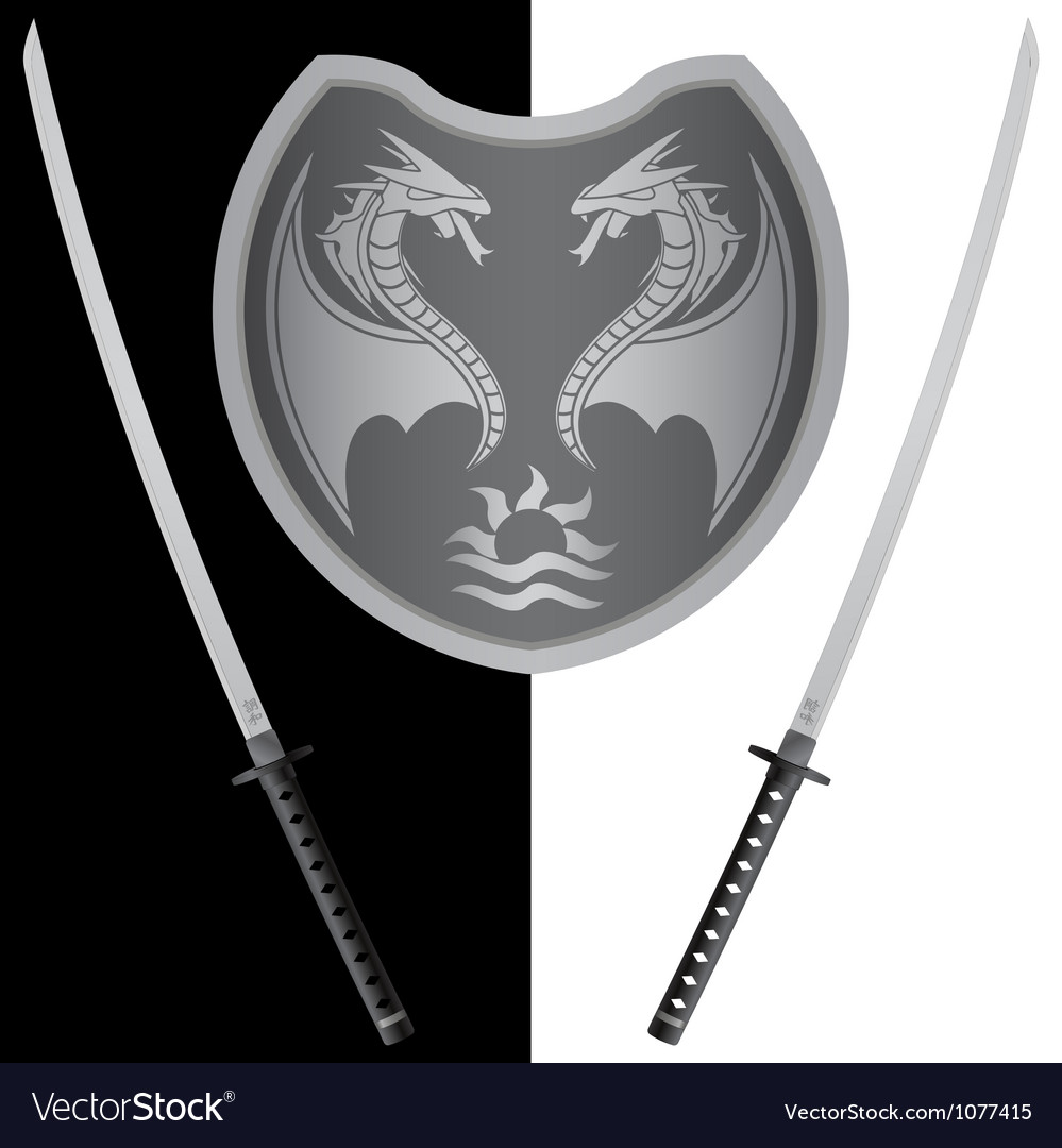 Fantasy shield and swords eighth variant vector | Price: 1 Credit (USD $1)