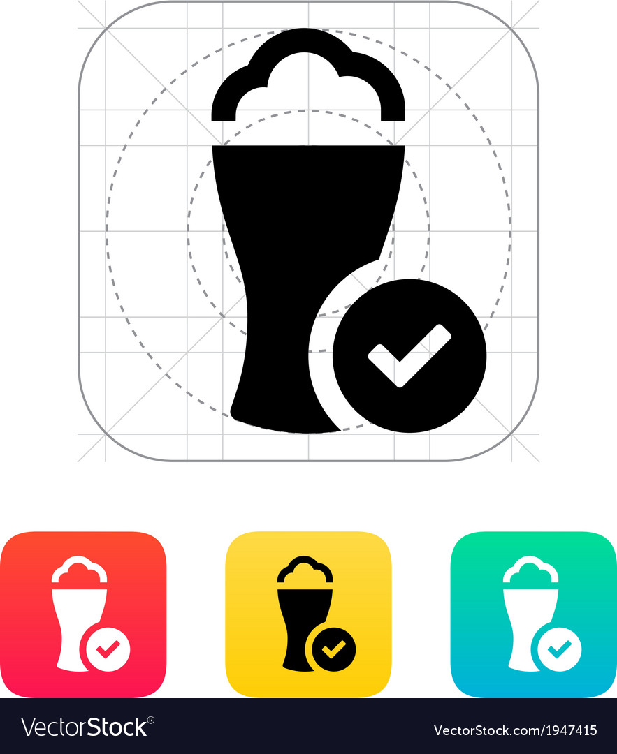 Glass of cold beer icon vector | Price: 1 Credit (USD $1)