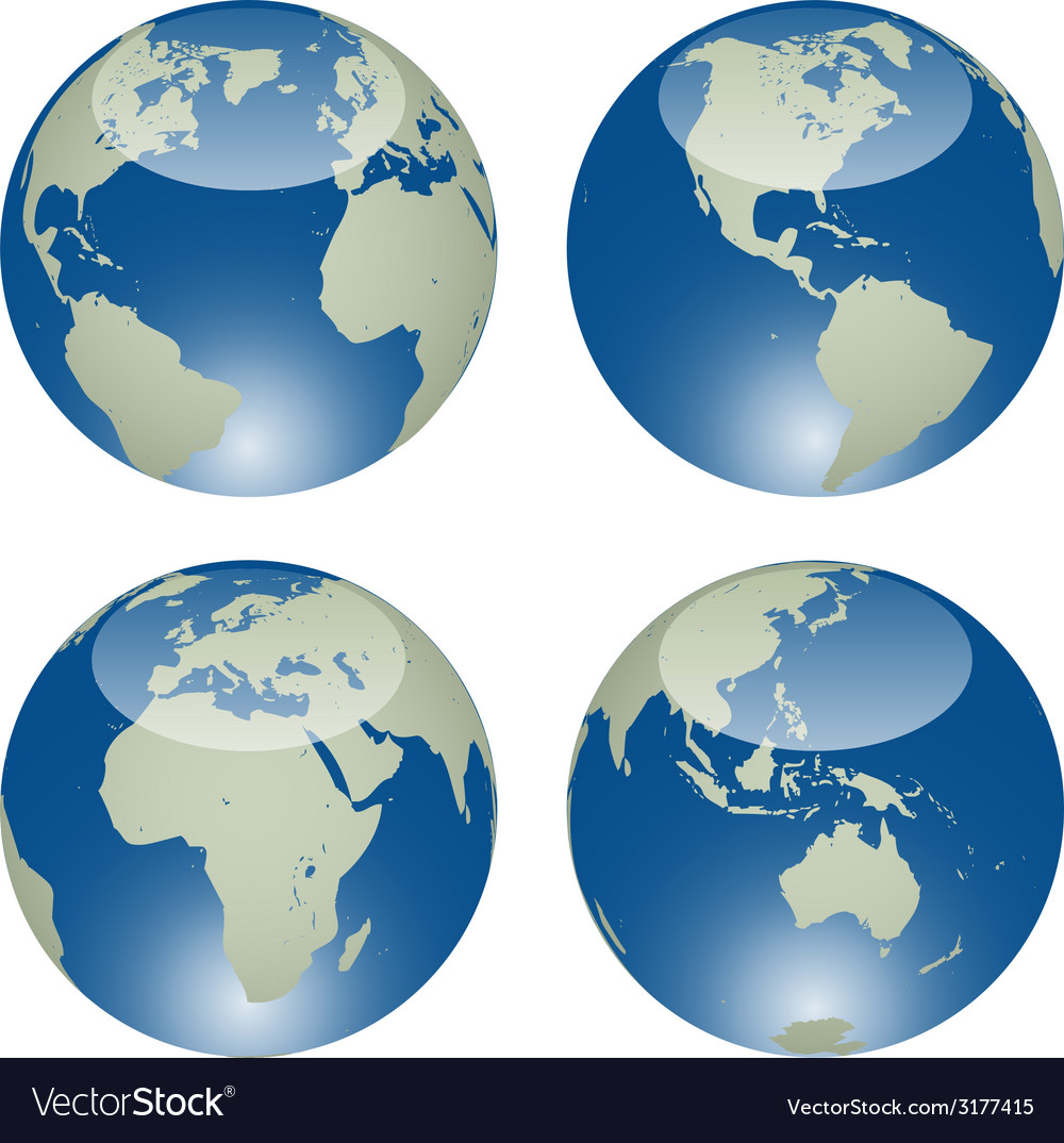 Glossy globes vector | Price: 1 Credit (USD $1)