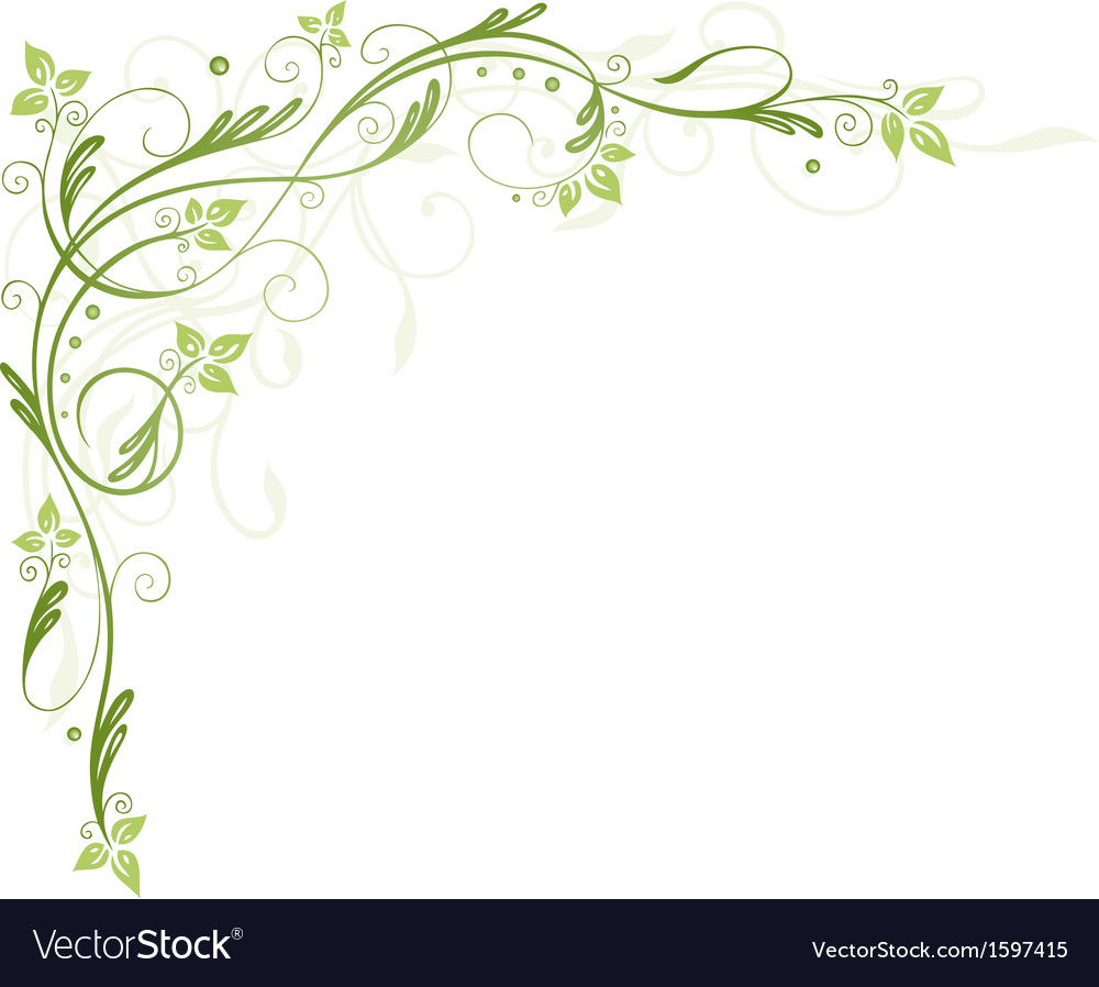 Leaves tendril spring vector | Price: 1 Credit (USD $1)