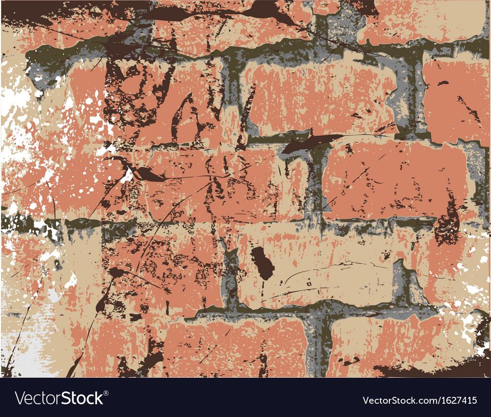 Old brick wall vector | Price: 1 Credit (USD $1)