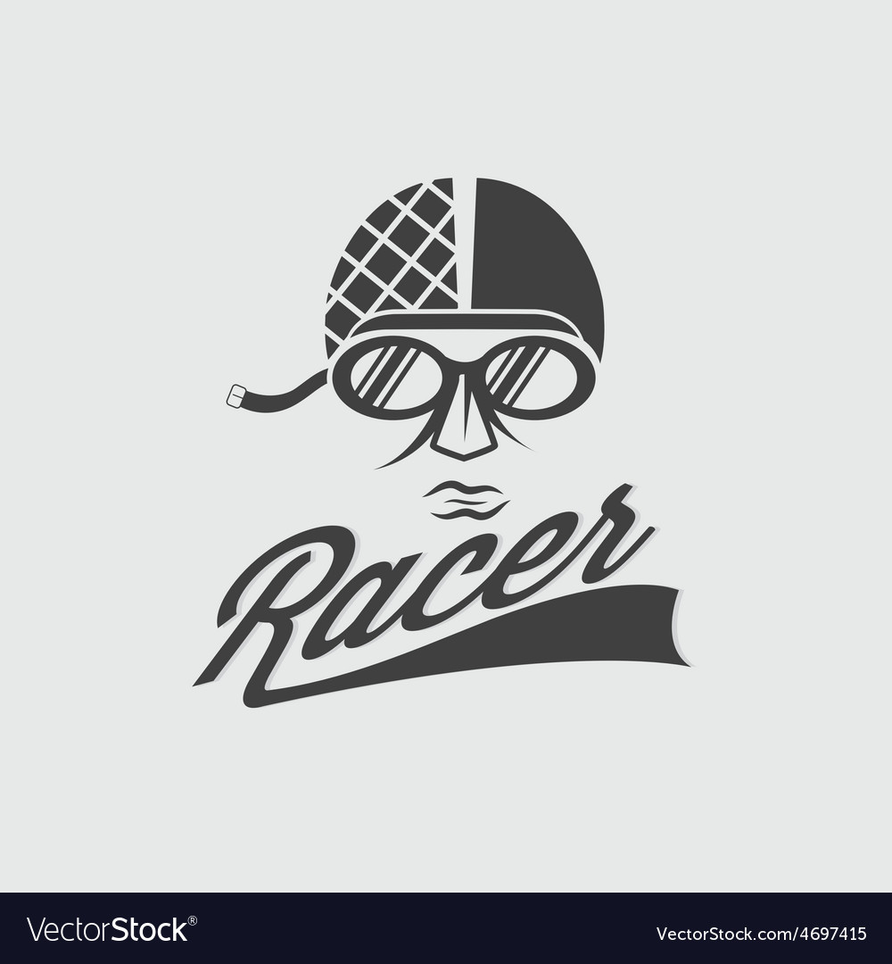 Racer head vintage vector | Price: 1 Credit (USD $1)