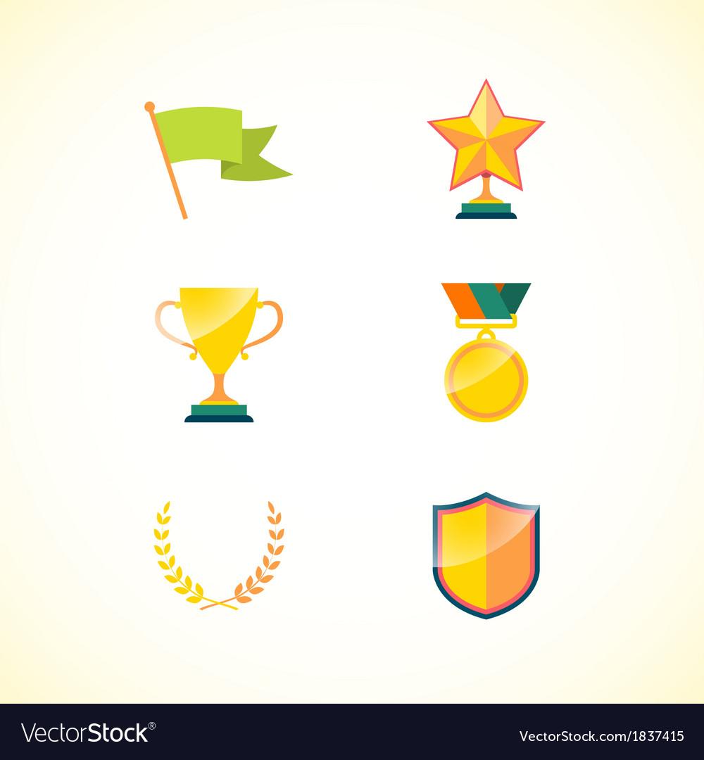 Set of achievement badges vector | Price: 1 Credit (USD $1)