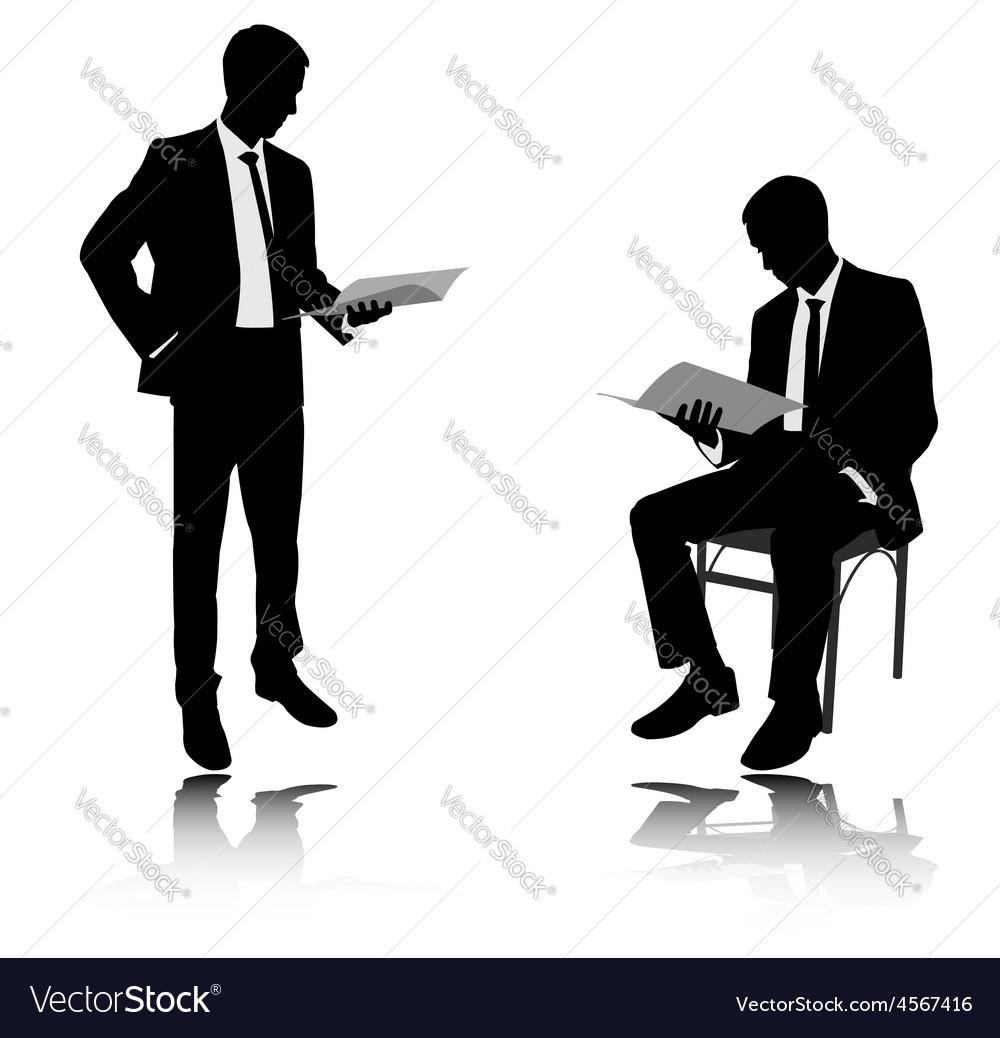 Businessman reading vector | Price: 1 Credit (USD $1)