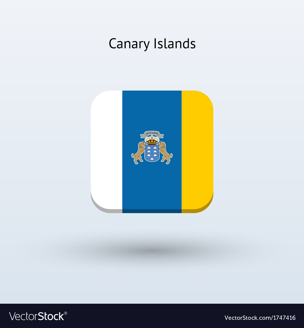 Canary islands flag icon vector | Price: 1 Credit (USD $1)