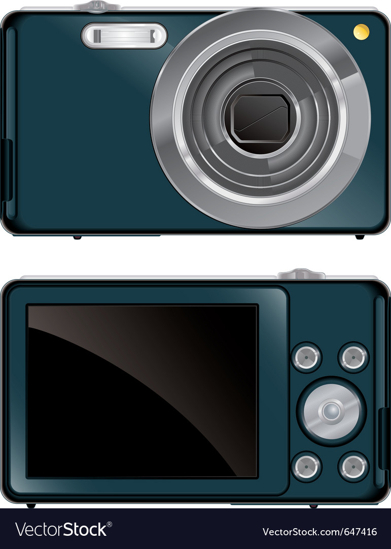 Compact digital camera vector | Price: 3 Credit (USD $3)