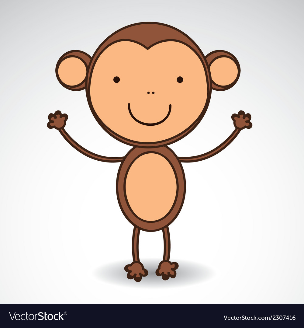 Cute monkey vector | Price: 1 Credit (USD $1)