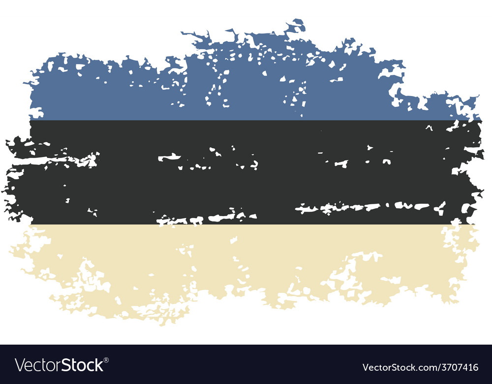 Estonian grunge flag vector | Price: 1 Credit (USD $1)