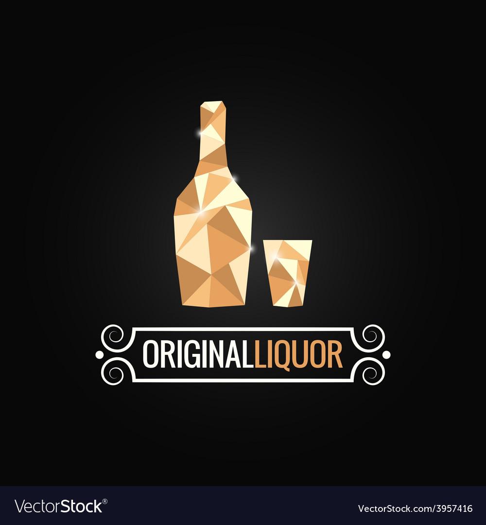 Liquor store poly design background vector | Price: 1 Credit (USD $1)