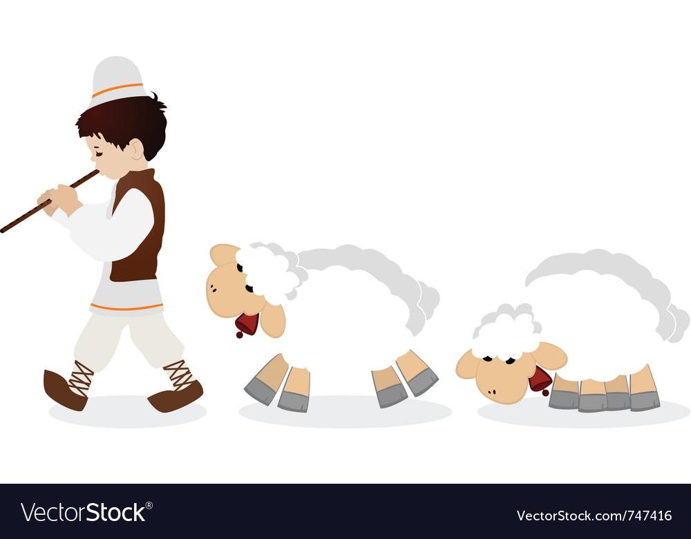 Little shepherd vector | Price: 1 Credit (USD $1)