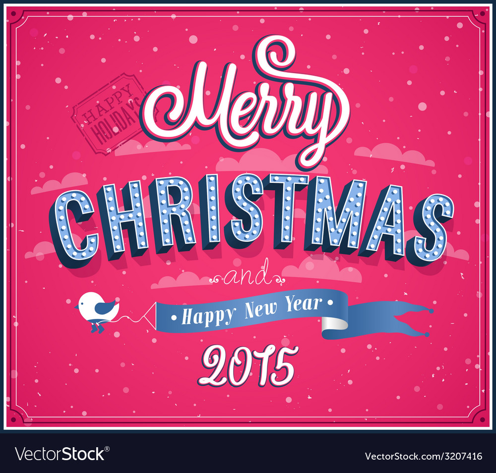Merry christmas typographic design vector | Price: 1 Credit (USD $1)