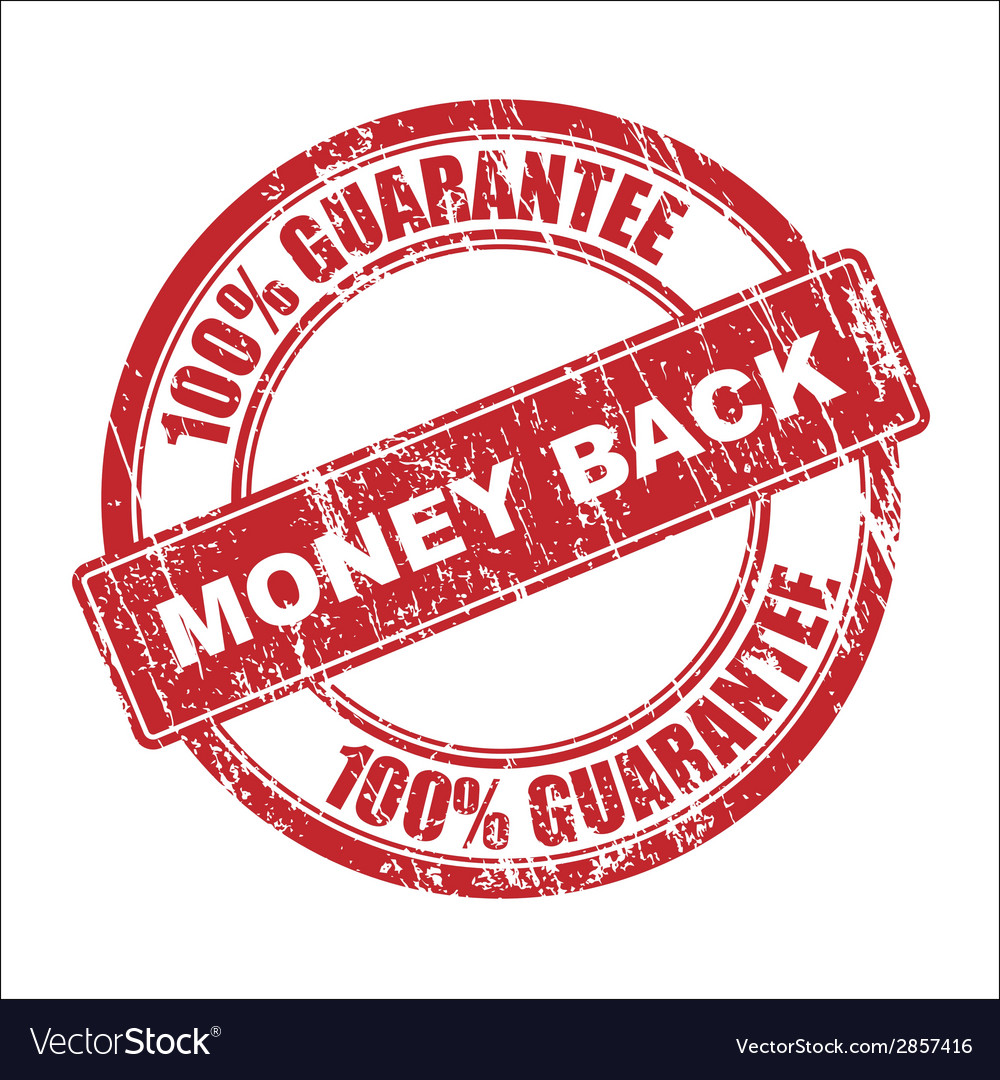 Money back stamp vector | Price: 1 Credit (USD $1)