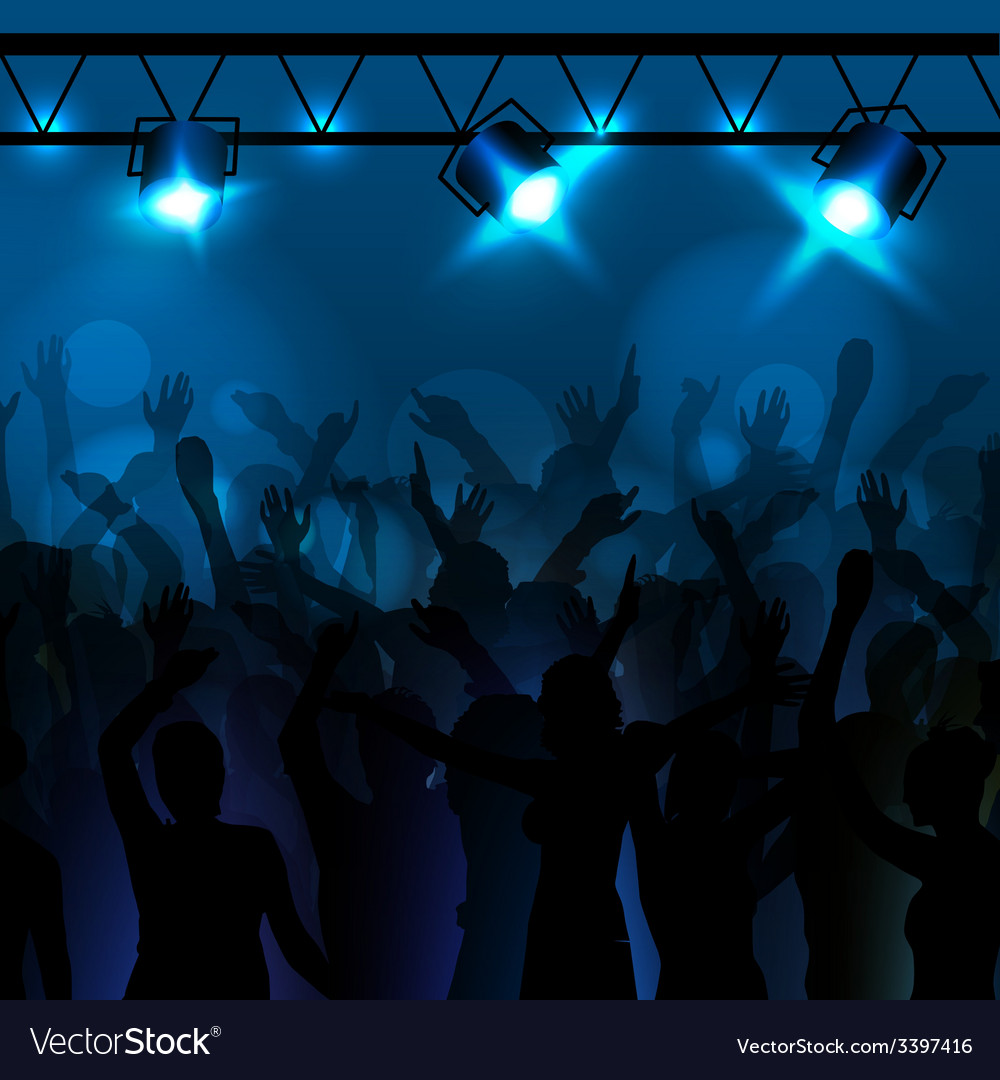 Neon disco background dancing people vector | Price: 1 Credit (USD $1)