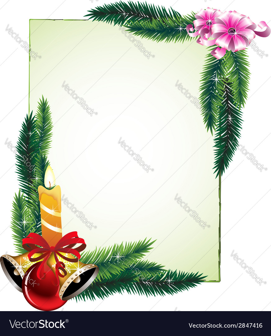 Pine branches and decorations vector | Price: 1 Credit (USD $1)